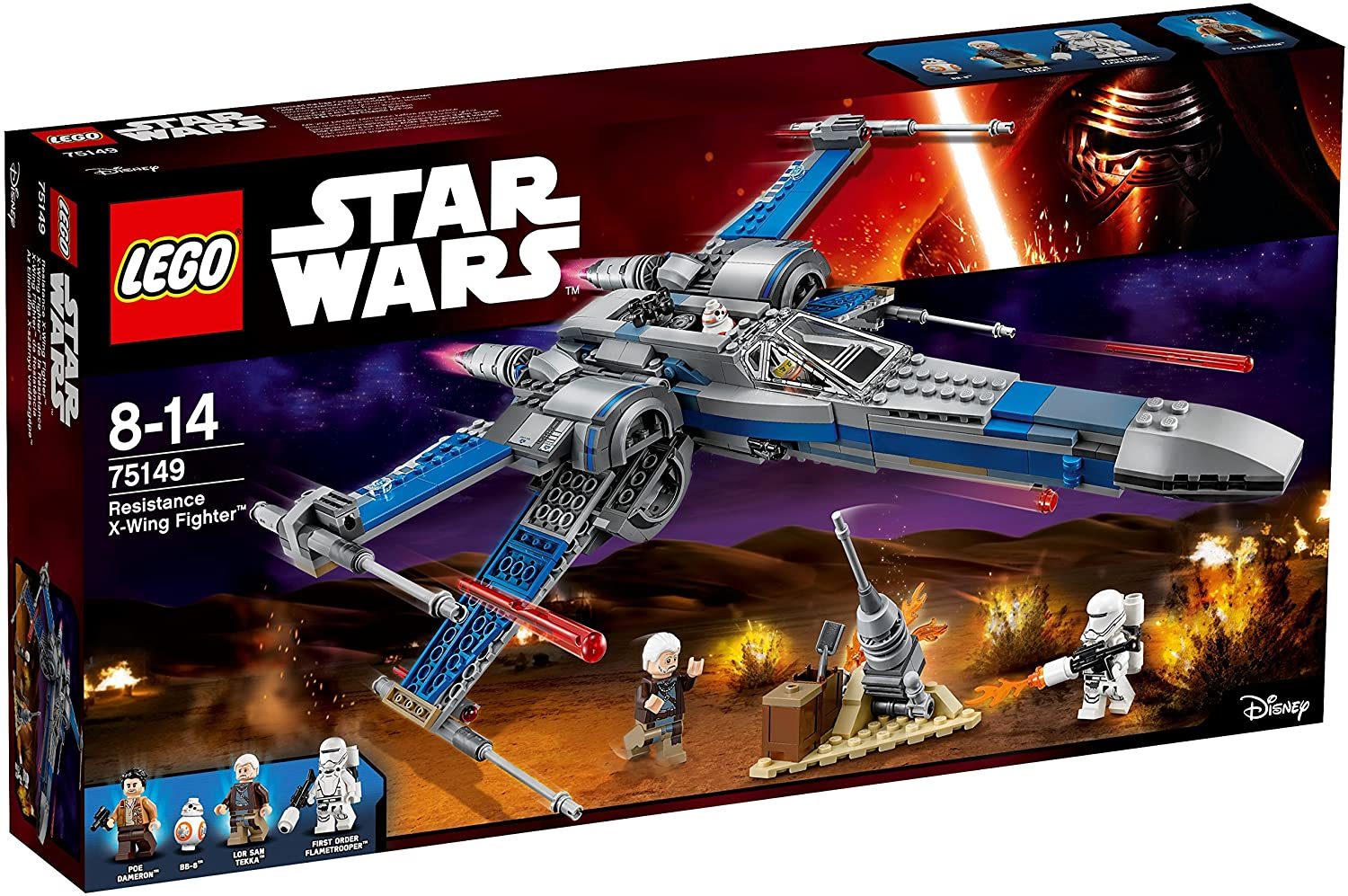Modelo 75149 Resistance X-Wing Fighter