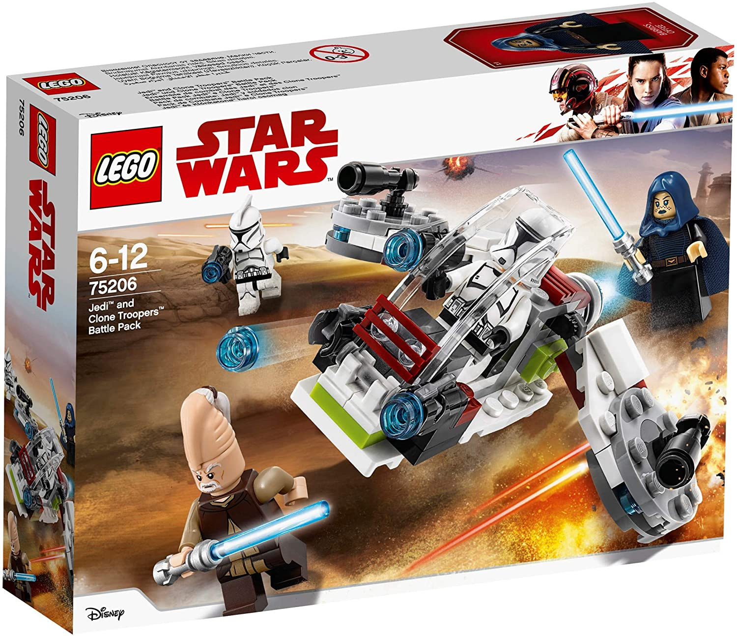 Modelo 75206 Jedi and clone troopers battle pack